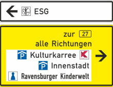Project Kornwestheim:  Directions sign