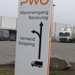 Projekte PWO Foto Schild Wareneingang