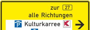 Projekte Kornwestheim Schild Wegweisung