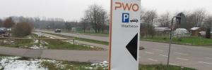 Projekte PWO Foto Schild Mitarbeiterparkplatz